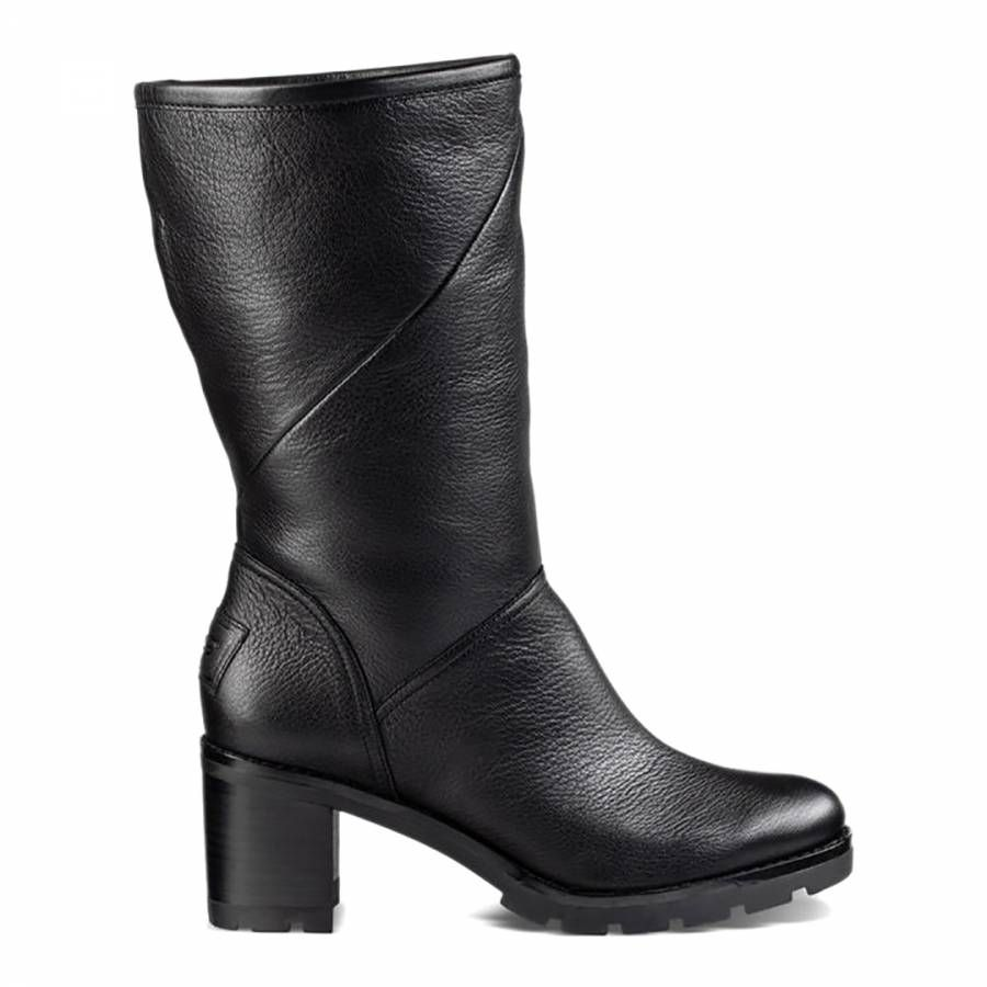 UGG Black Leather Jessia Boots   Boots