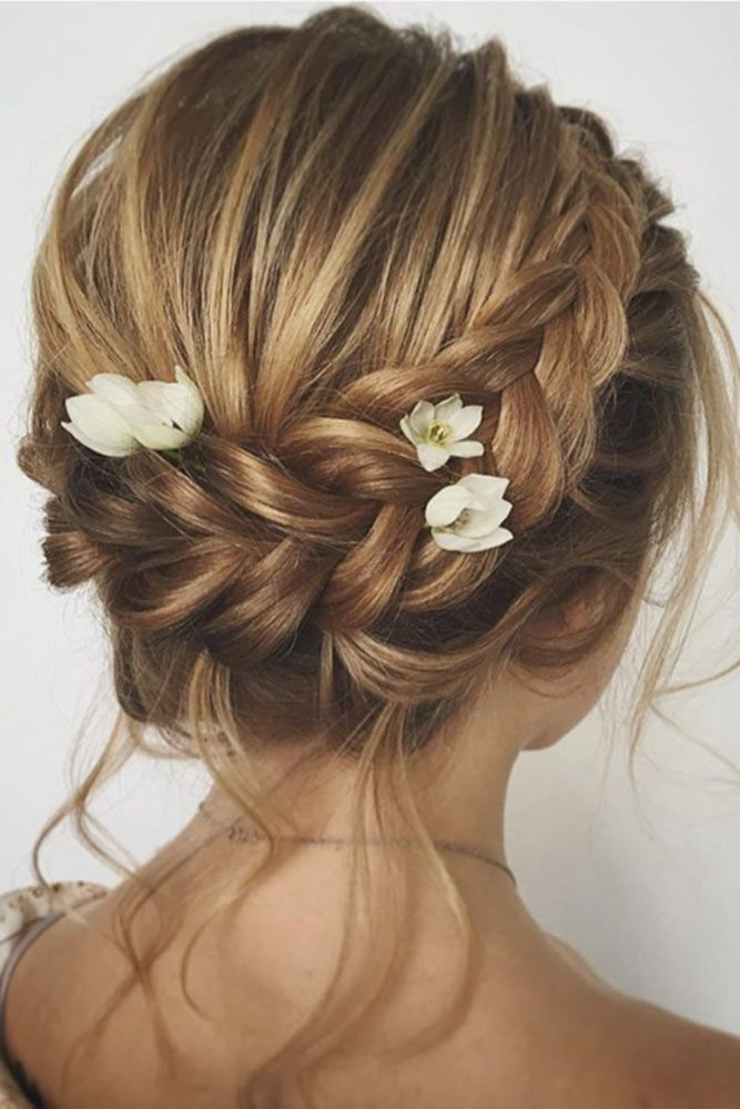 30 Chic Wedding Hairstyles For Short Hair Lovehairstyles Com Braided Hairstyles For Wedding Short Wedding Hair Elegant Wedding Hair