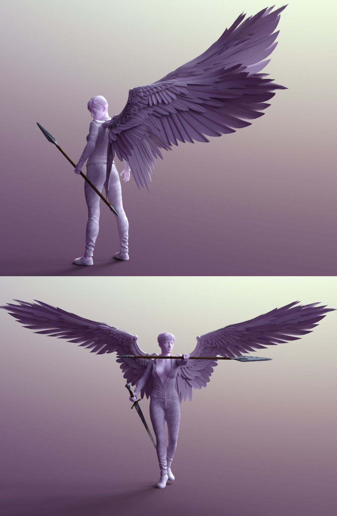 Photo of Sacrosanct: Poses and Expressions for Genesis 8 and Morningstar Wings