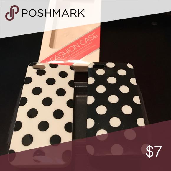 Black and White Polka Dot iPhone case Black and White Polka Dot iPhone cases Brand New Accessories Phone Cases