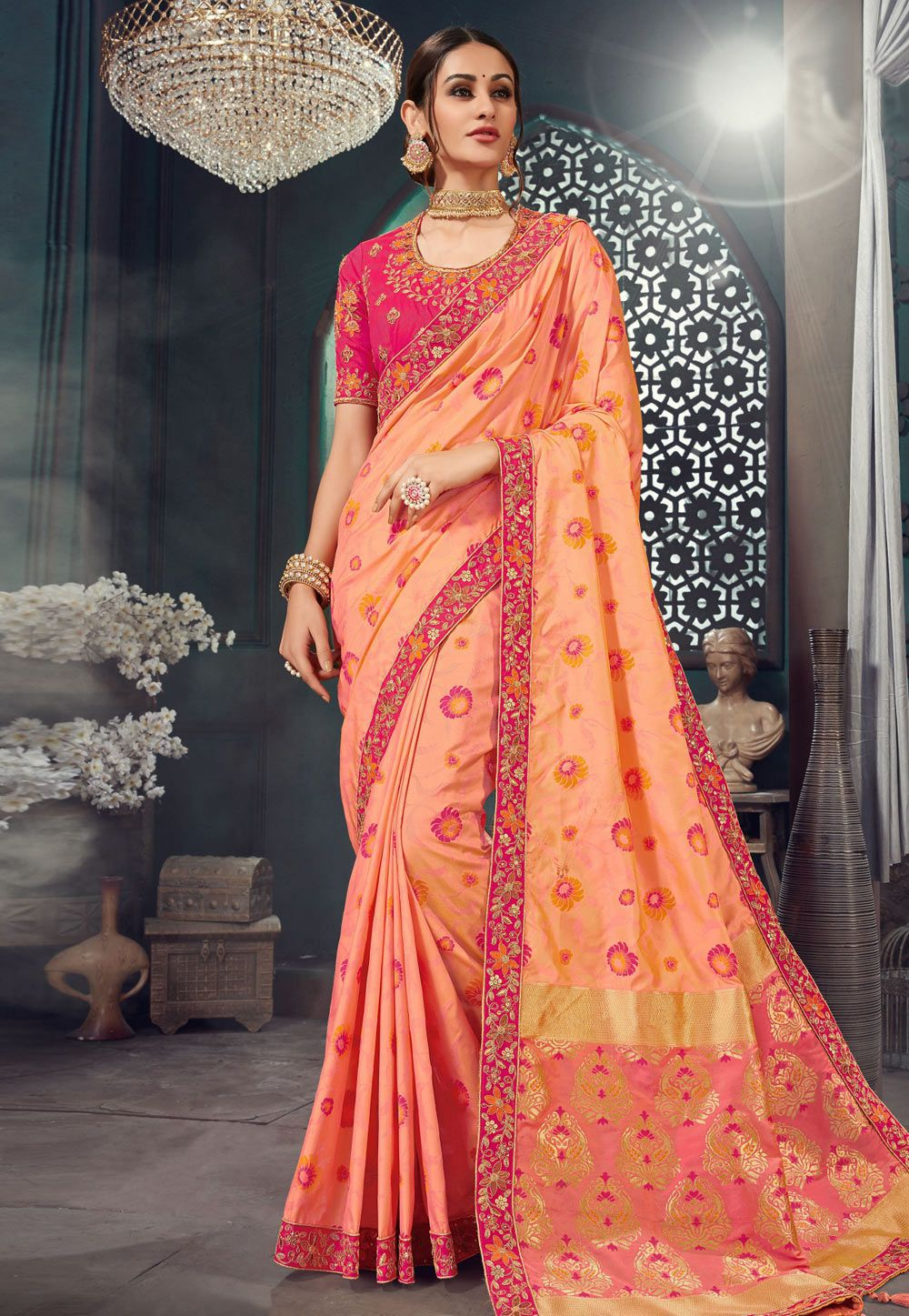 How to Wear Saree for Plus Size-16 Saree Tips for Curvy Ladies