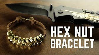 Hex Nut Paracord Bracelet - Quick Cut - YouTube