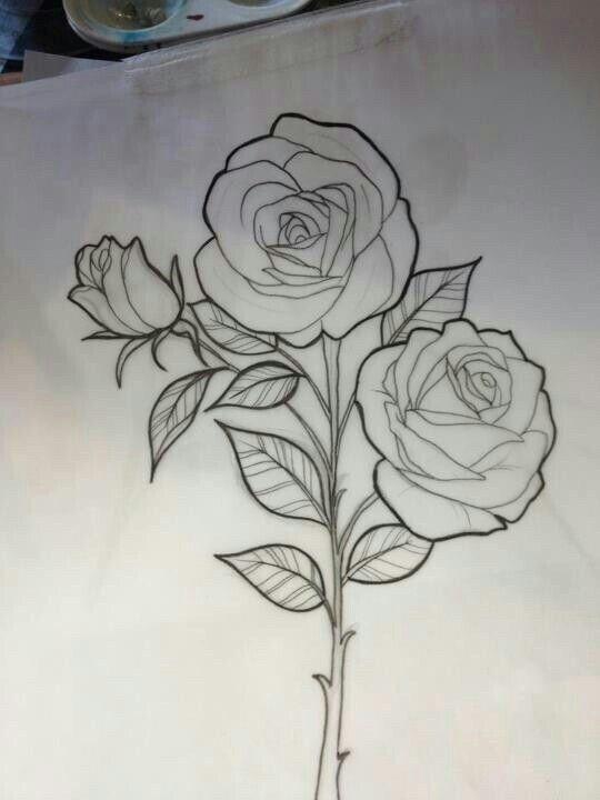 Pin By Miguelita Moore On Rose Drawings Rose Sketch Roses Drawing Rose Outline Drawing