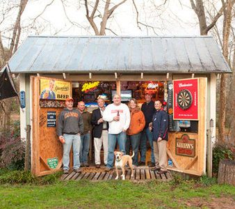 8 Sheds Turned Into Mancaves Outdoors Man Cave Shed