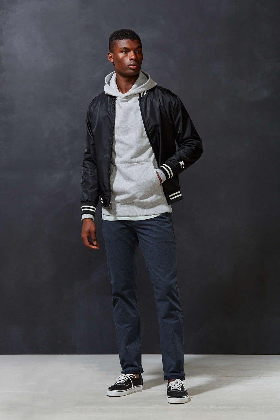 Starter Black Label Uo Athletic Bomber Jacket Slim Fit Bomber Jacket Bomber Jacket Bomber Jacket Men [ 1463 x 975 Pixel ]