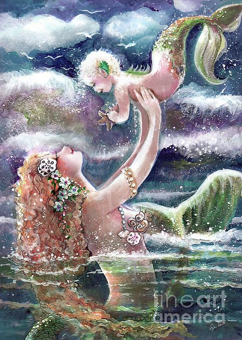 Playful in the Sea Painting - Playful in the Sea Fine Art ...