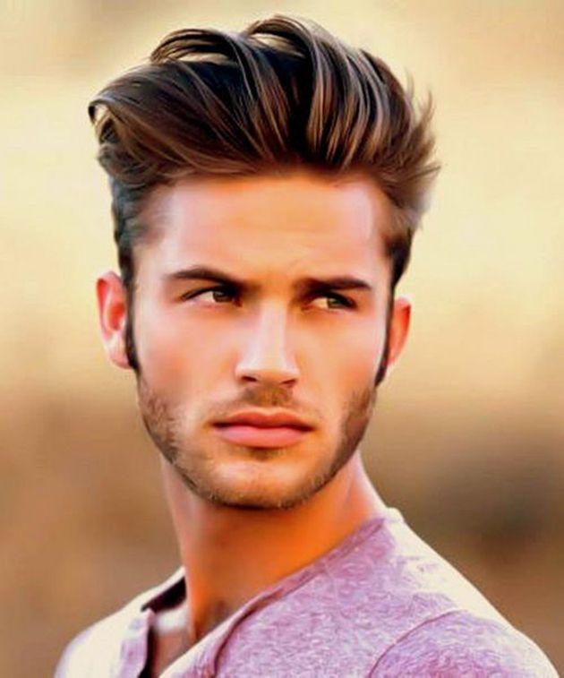 Coloration des cheveux bruns pour les hommes
