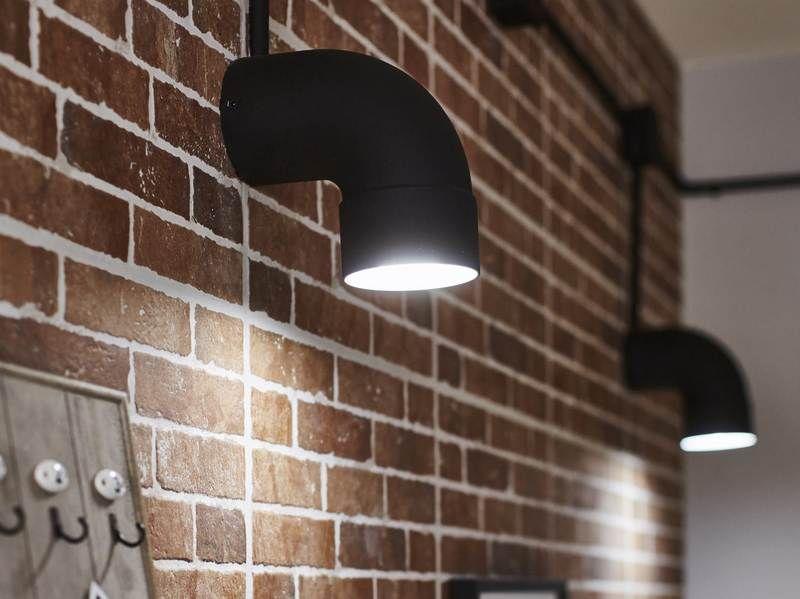 une applique style industriel r alis e avec un coude de. Black Bedroom Furniture Sets. Home Design Ideas
