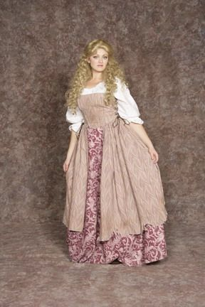 Peasant Wench #4 from Hale Center Foundation for the Arts and Education - Archive Costumes Inventory. Historically accurate for the Renaissance period.