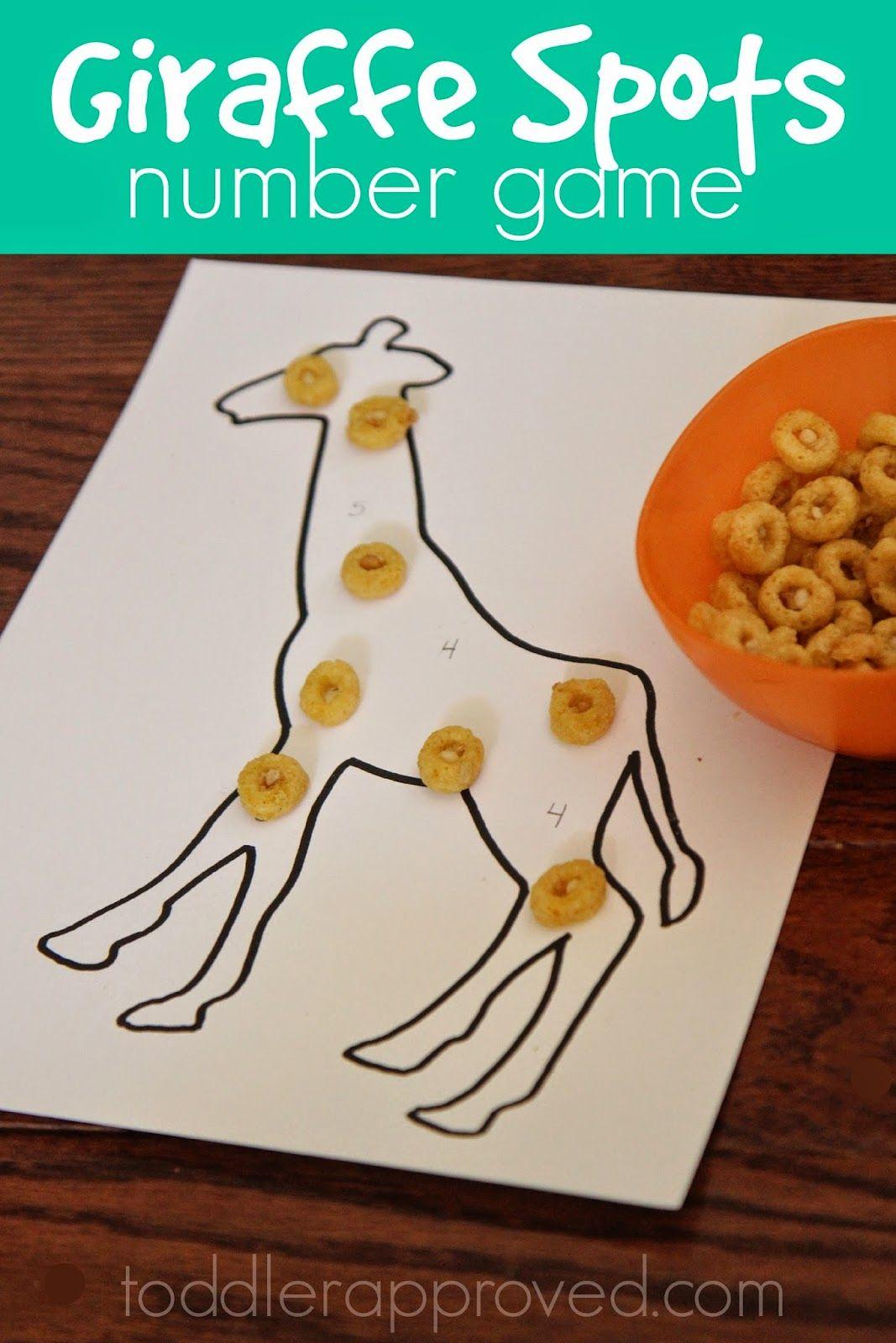 Giraffe Spots Number Game Toddler Approved Preschool Zoo Theme Zoo Preschool Zoo Crafts [ 1600 x 1067 Pixel ]