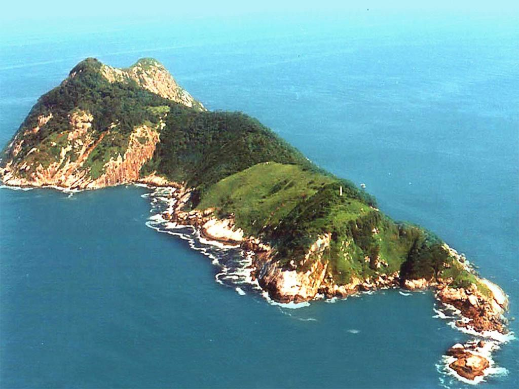 An Aerial View Of The Brazilian Island Of Ilha De Queimada Grande