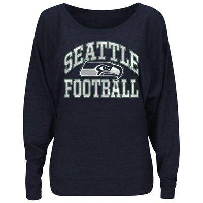 Women's Seattle Seahawks Nike Gray Stadium Epic Crew Long Sleeve ...