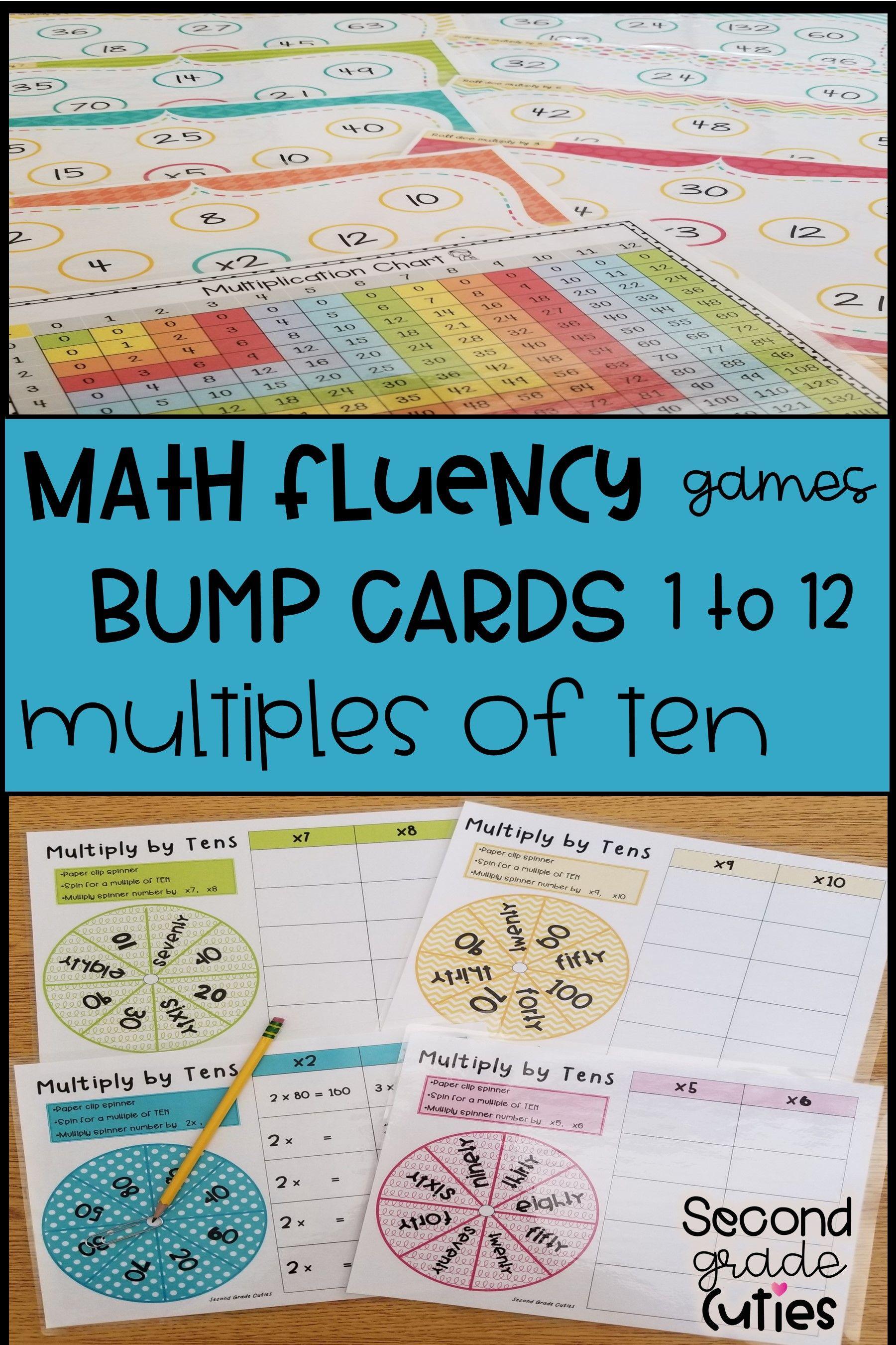 Multiplication Bump Masters activities, 1 & 2 digit, practice & brag ...