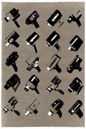 Super 8 Collection Grey Art Photo Prints Film Design Vintage Film