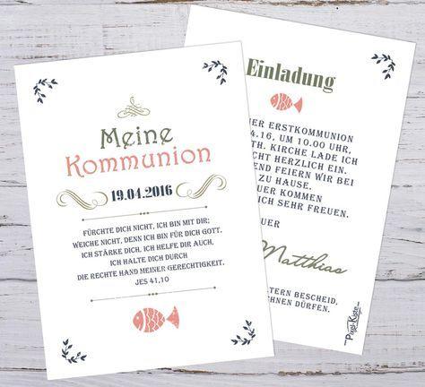 Einladungen Erstkommunion Vintage