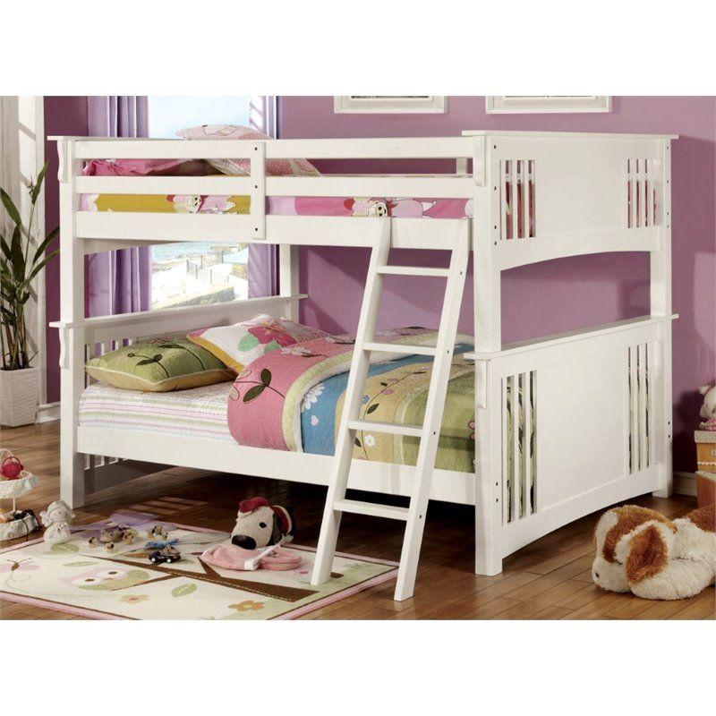 Furniture of America Roderick Full over Full Bunk Bed in White