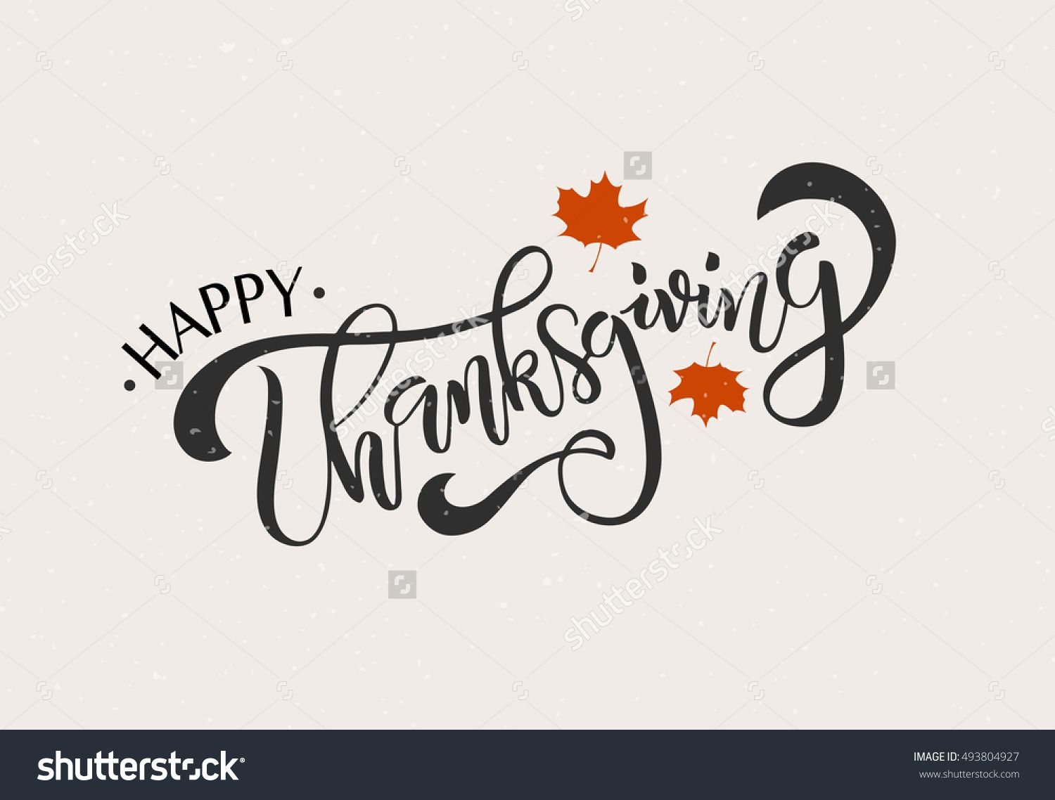 """Hand Drawn Thanksgiving Typography Poster Celebration Quote """"Happy"""