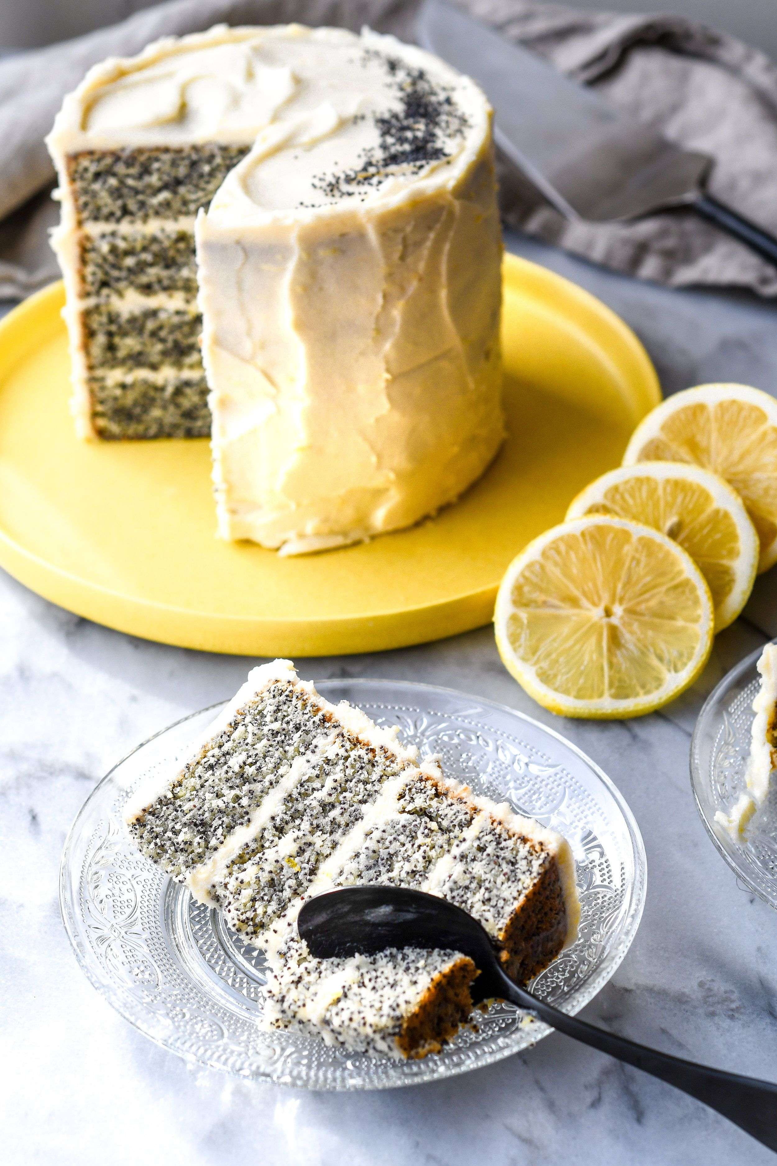 The Poppiest Of Lemon Poppy Cakes Buttermilk Poppy Cake Lemon Poppyseed Cake Sweet Recipes