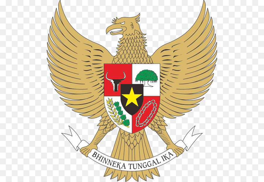 National Emblem Of Indonesia Coat Of Arms Pancasila Garuda Garuda Pancasila Coat Of Arms Banner Background Images Emblems