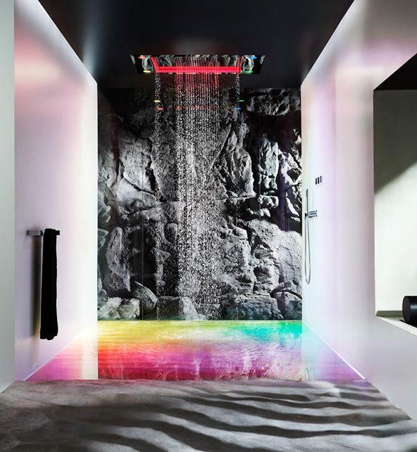 Design im Bad Die Regenbogen Dusche