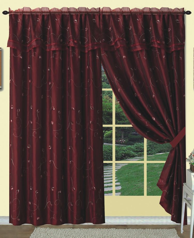 dorothy is a uniquely layered curtain panel with an attached
