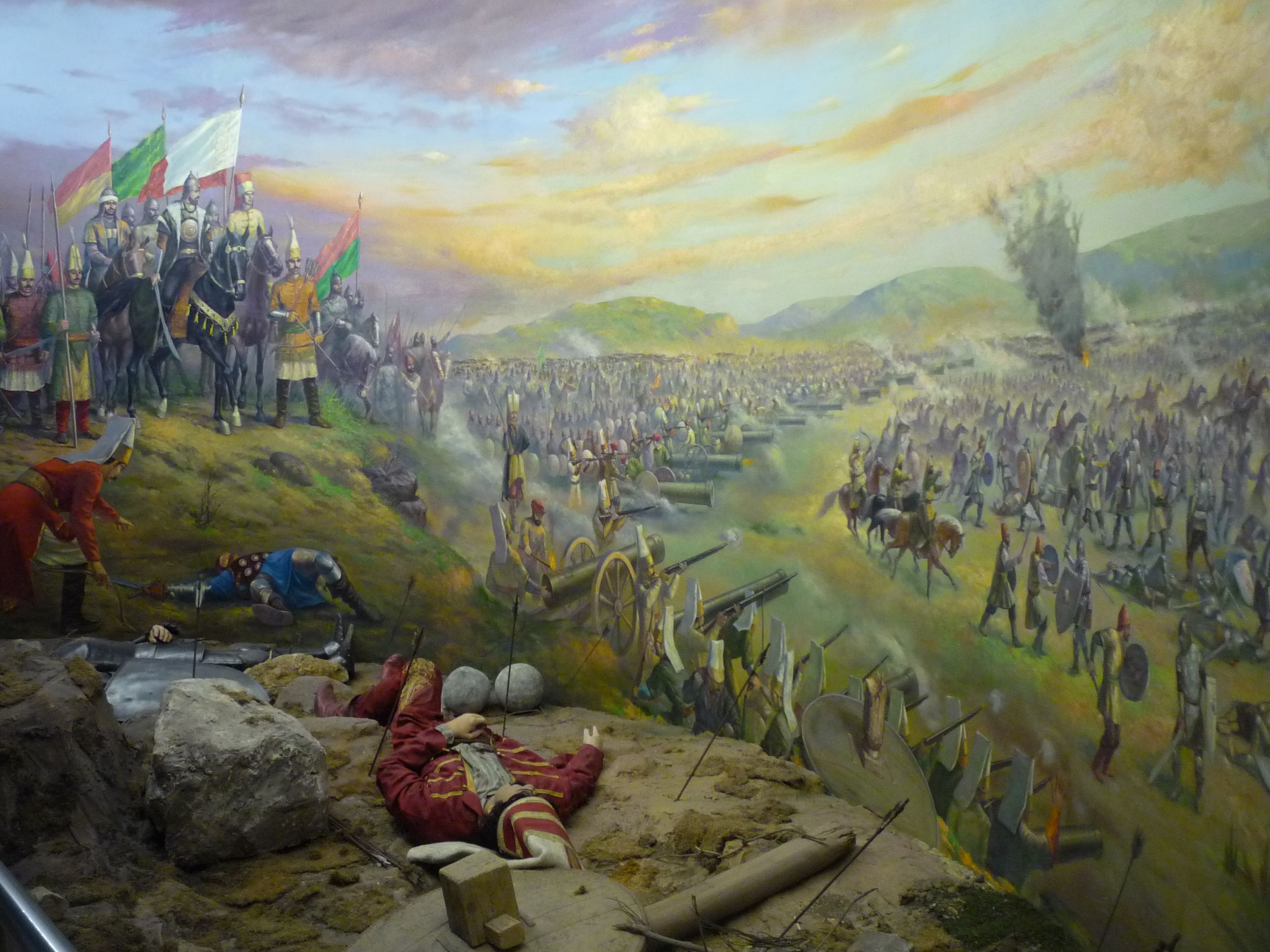 Ottoman Turks At The Siege Of Constantinople Byzantine War Art