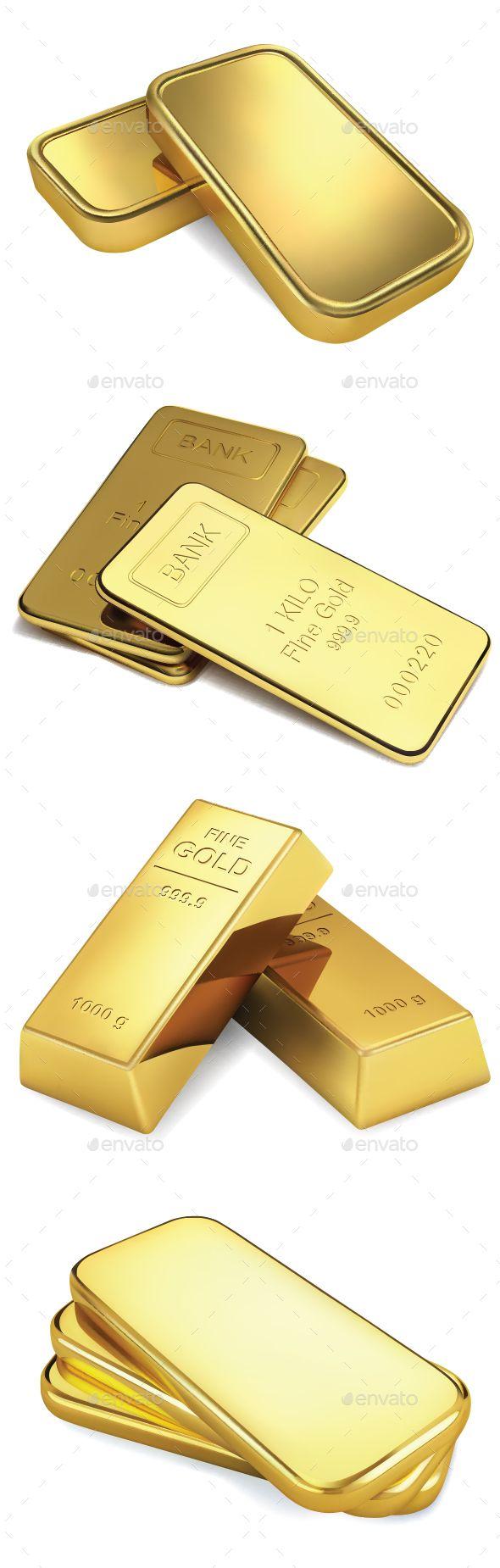 Gold Bars Vector Character Design Gold Bar Graphics Inspiration
