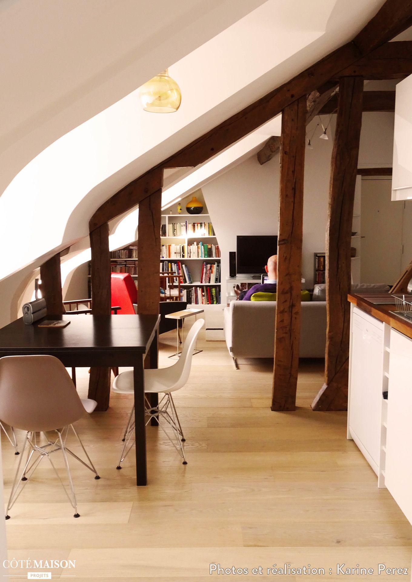 Appartement scandinave complétement rénové sous les toits | Combles ...
