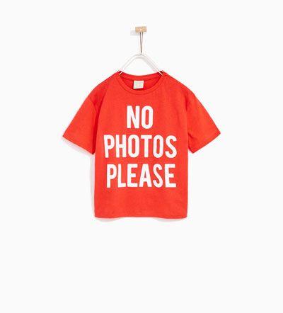 T Shirt Mit Schriftzug Alles Sehen T Shirts Madchen 4 14 Jahre Kinder Zara Deutschland Kinderkleidung Kind Mode Hemd