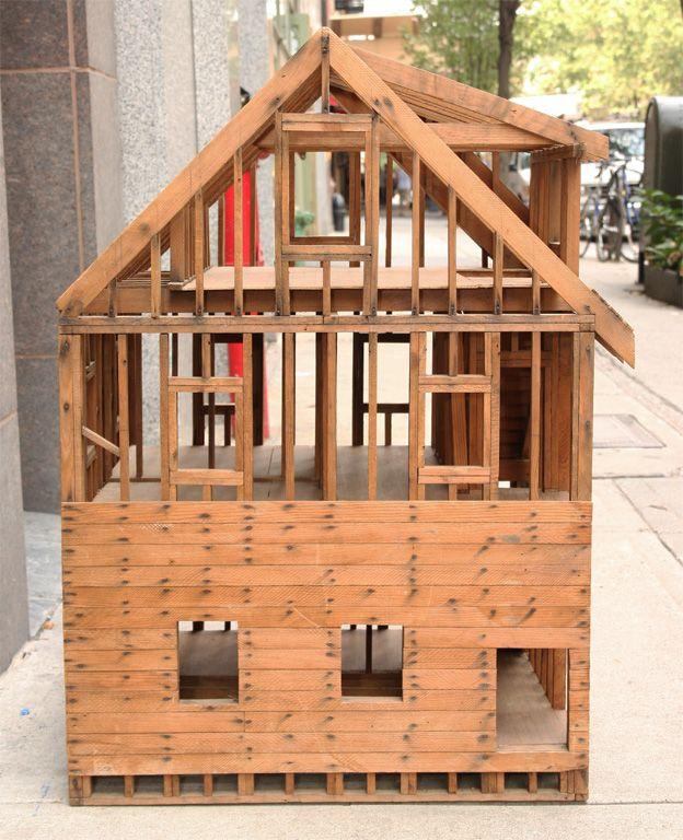 Scale model house framing