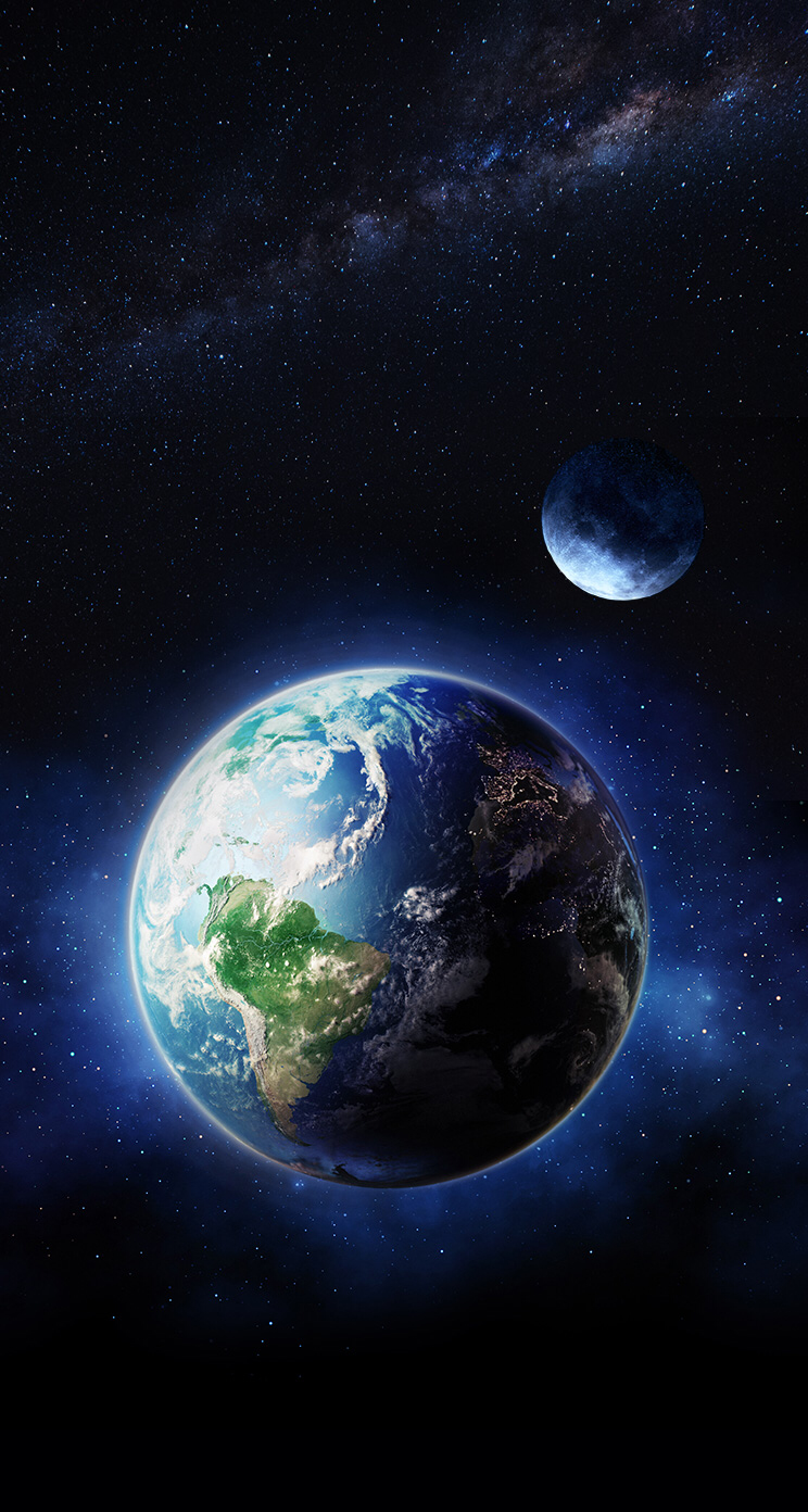 Earth And Moon Wallpaper Wallpaper Earth Iphone Wallpaper Earth Wallpaper Space