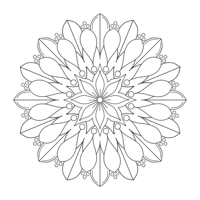 Coloring Mandalas. Coloring pages for grownups