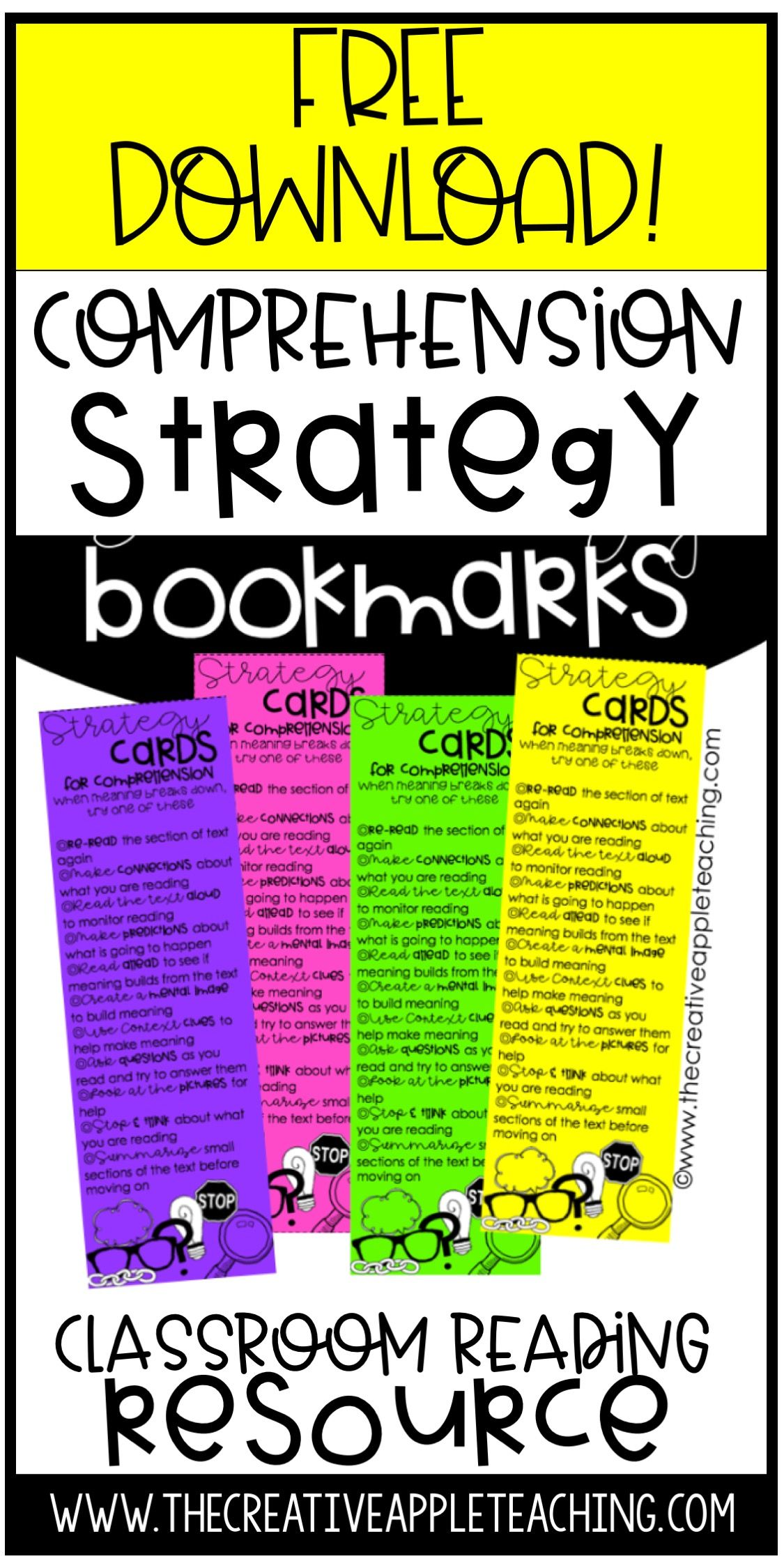 Conferencing With Comprehension Fix Up Strategy Cards In