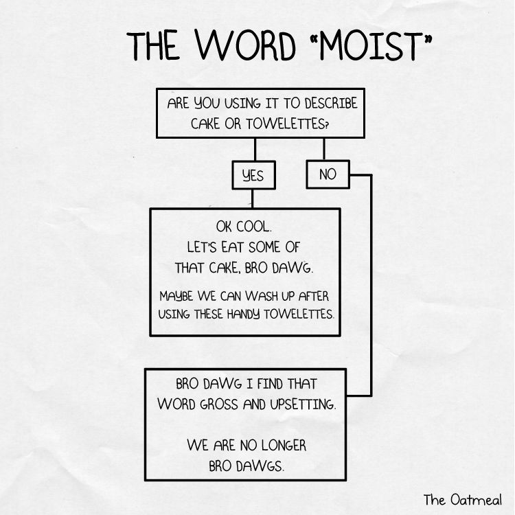 Donu0027t tell me youu0027re moist, bro-dawg Kicks and Giggles ^_ - flow chart word