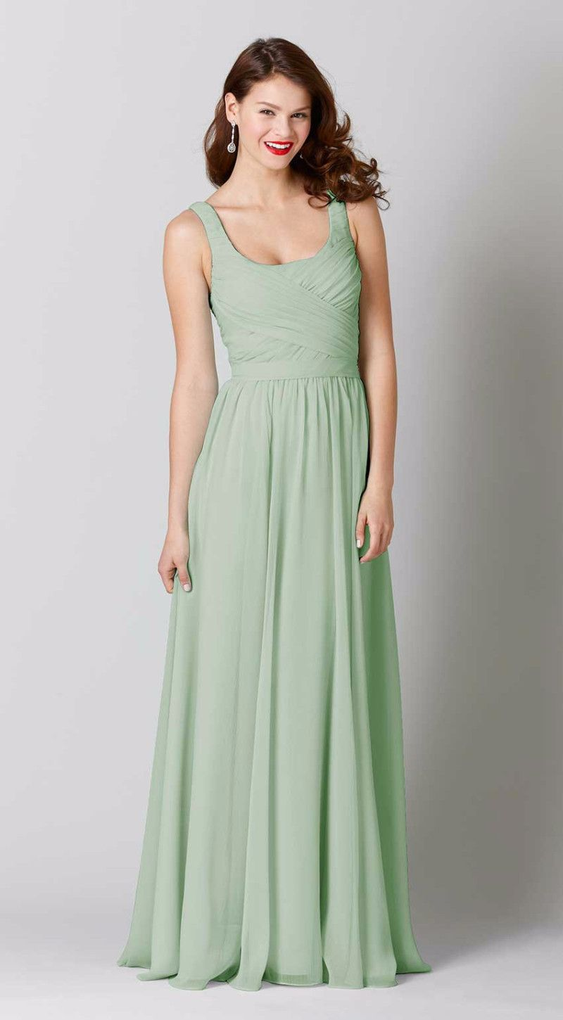 Sophia green love pinterest chiffon bridesmaid dresses