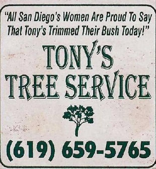 Hmmm I Wonder How Many Years Tony Was In Business Funny Signs