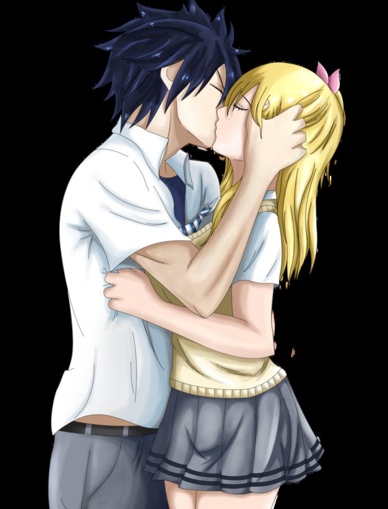 Graylu.- Kiss v2 by ~8Sakura8 on deviantART | Graylu (one of my many ...