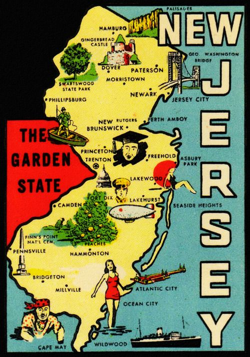 New Jersey… the Garden State | New jersey, Jersey city, Jersey shore