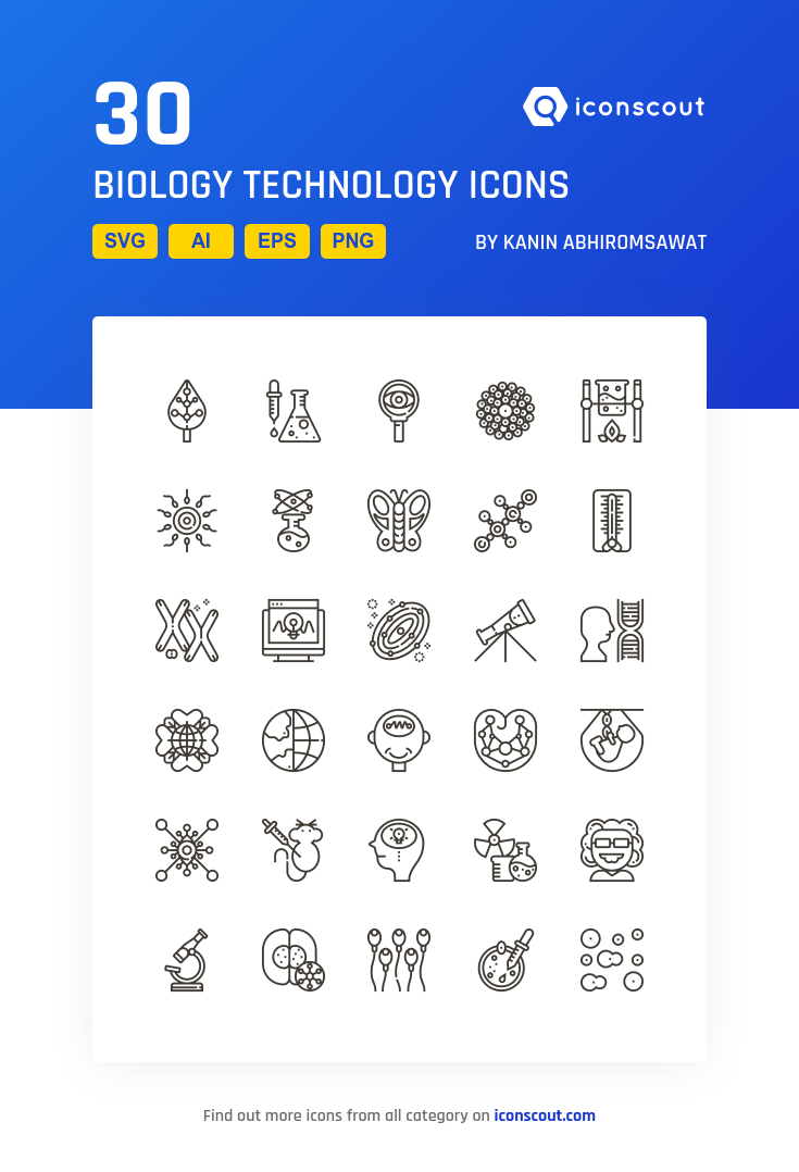 Download Biology Technology Icon pack Available in SVG