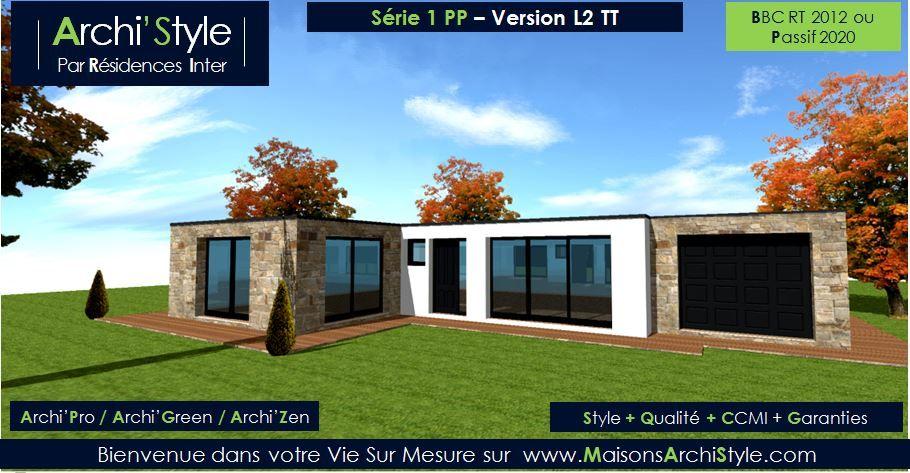 Série 1 pp maisons archistyle constructeur de maison sur mesure a l architecture contemporaine moderne design classique modulaire cubique cube loft