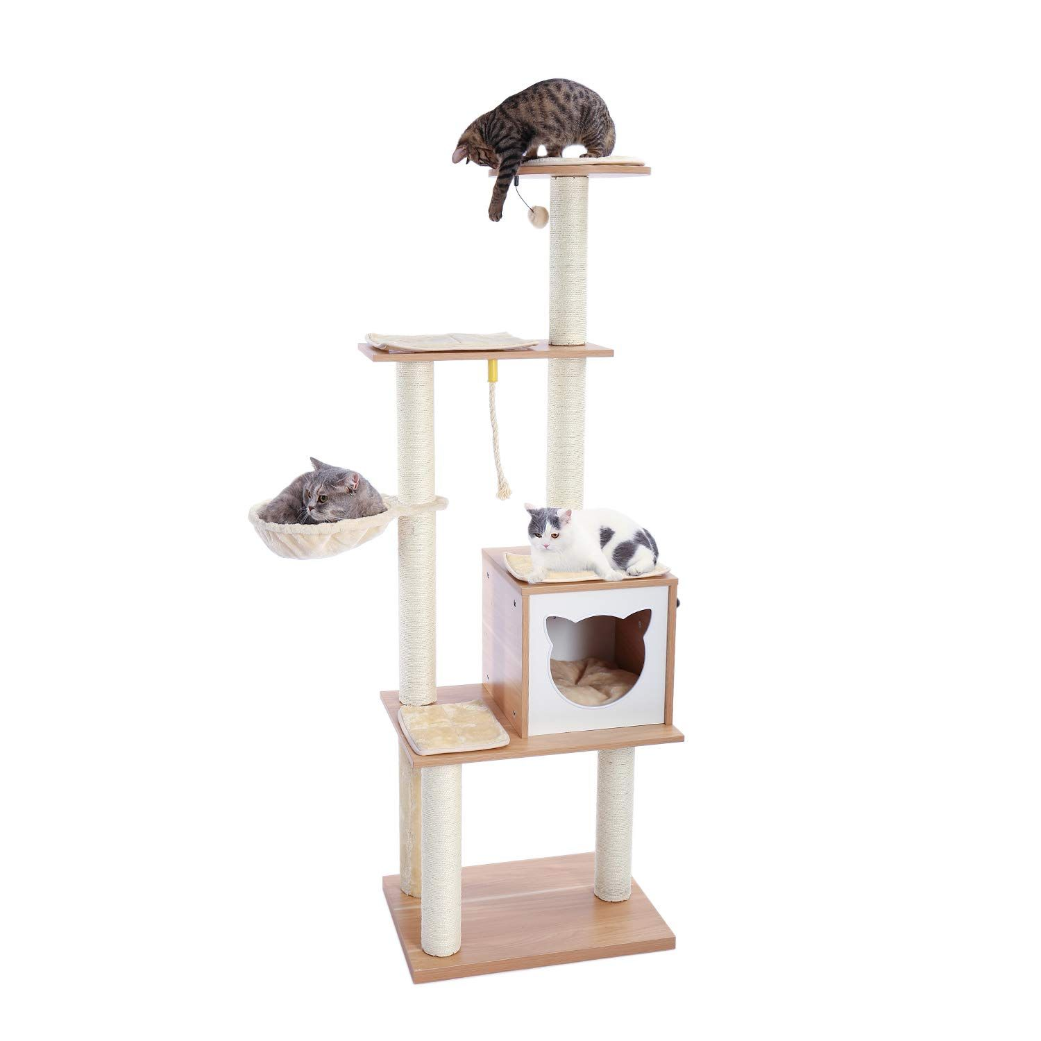 Top Design Cat Tower With Hammock Designs Trend