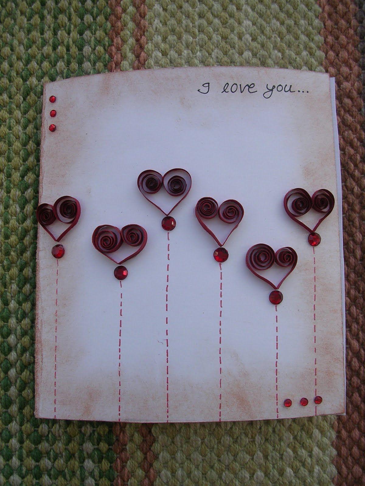Quilling Valentine Card Cartes Et Emballages Cadeaux Pinterest
