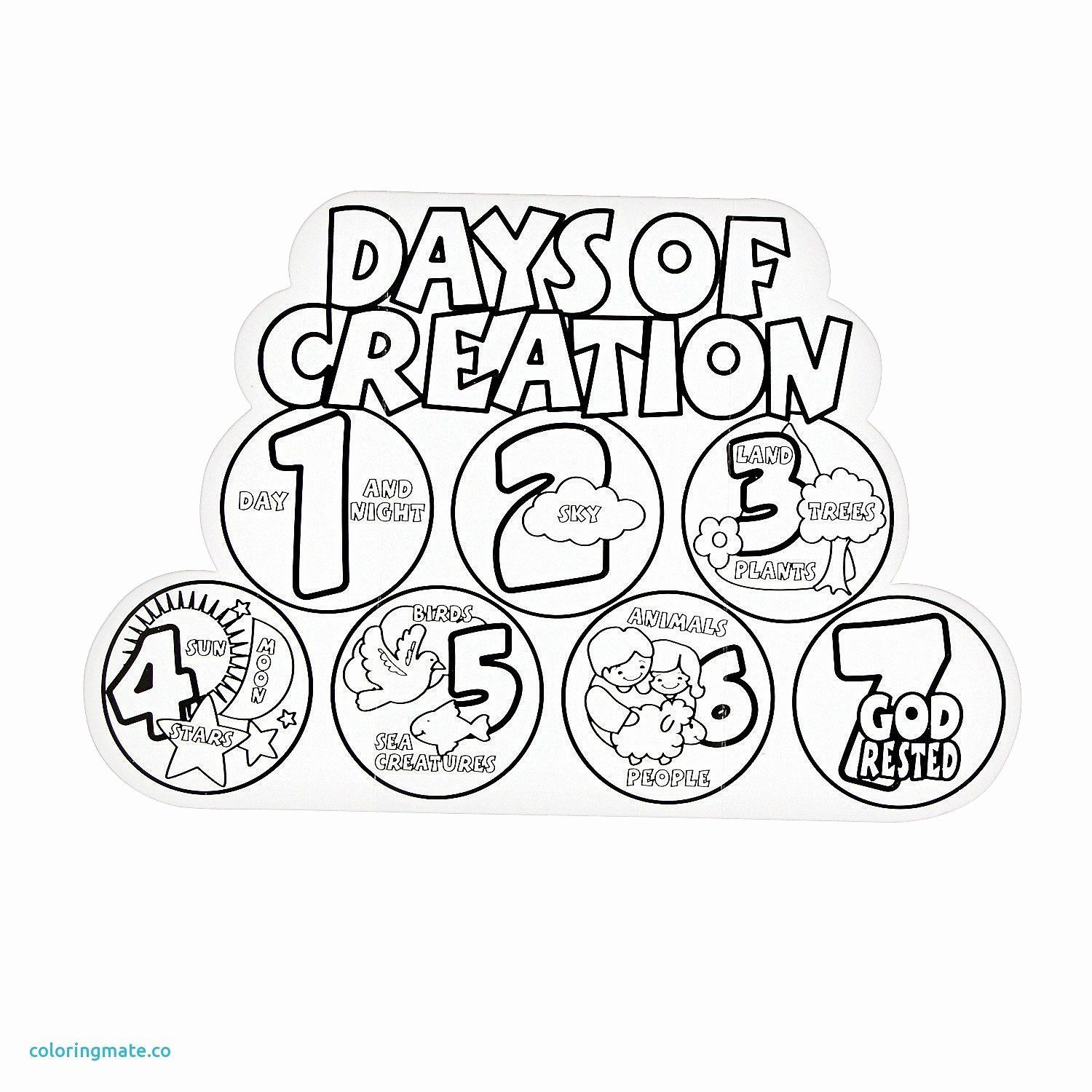 Science Halloween Coloring Pages Awesome 7 Days Creation Coloring Pages Free Creation Coloring Pages Sunday School Coloring Pages Days Of Creation