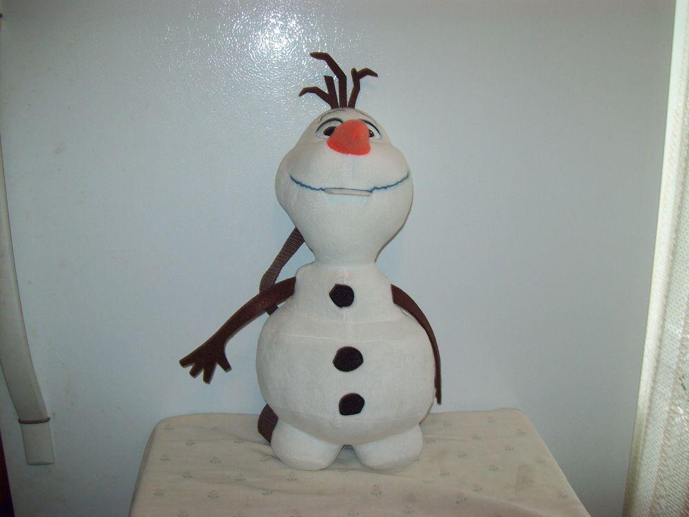 Disney Frozen White Olaf Snowman Backpack 4+ Girls/Boys Plush 17in. #Disney