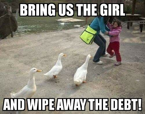 Wipe away the debt
