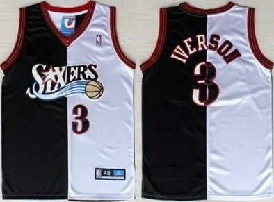 the latest 0b2c7 a38b9 Adidas Philadelphia 76ERS 3 Allen Iverson Swingman Black ...