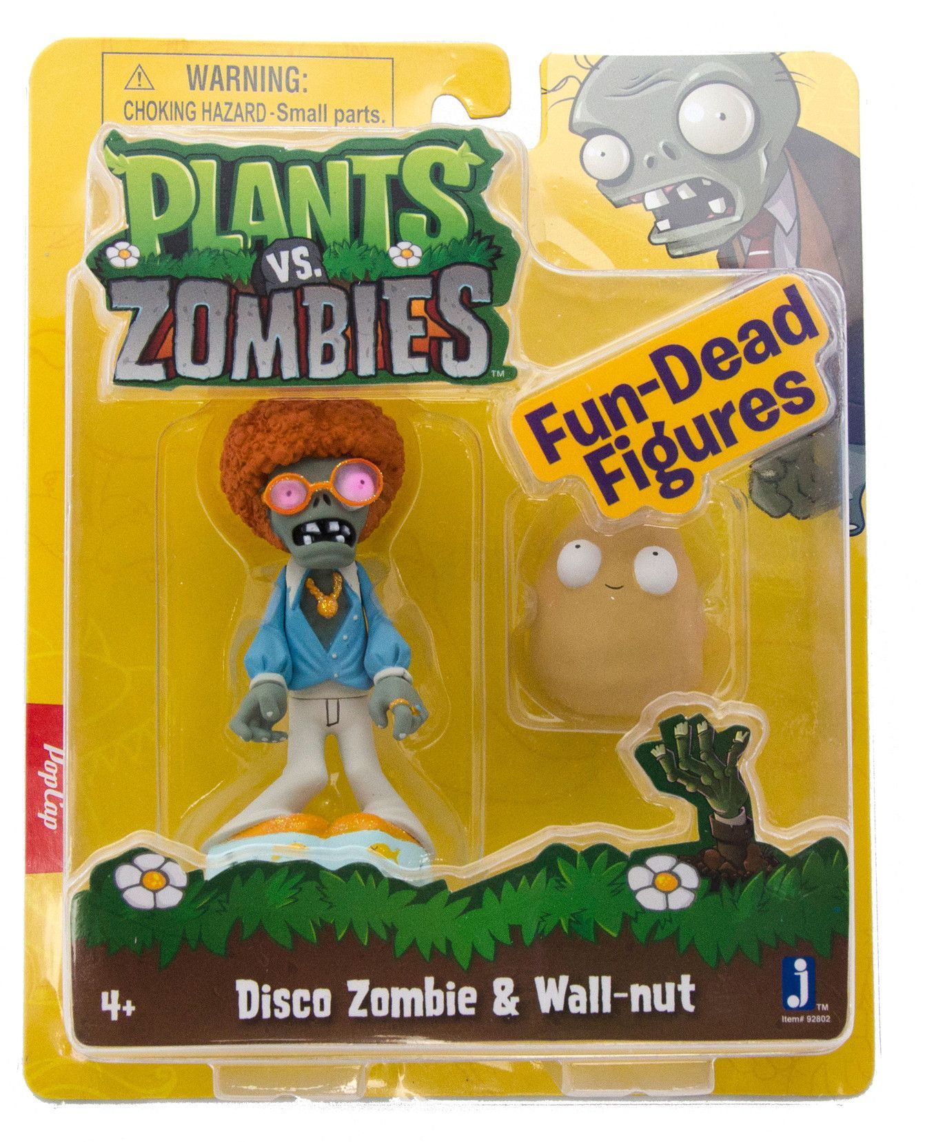 "Plants Vs Zombies 3"" Figure Disco Zombie With Wall nut"