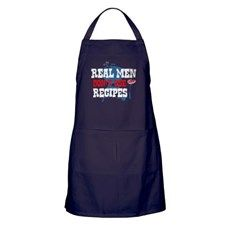 Real Men Dont Use Recipes Apron (dark)