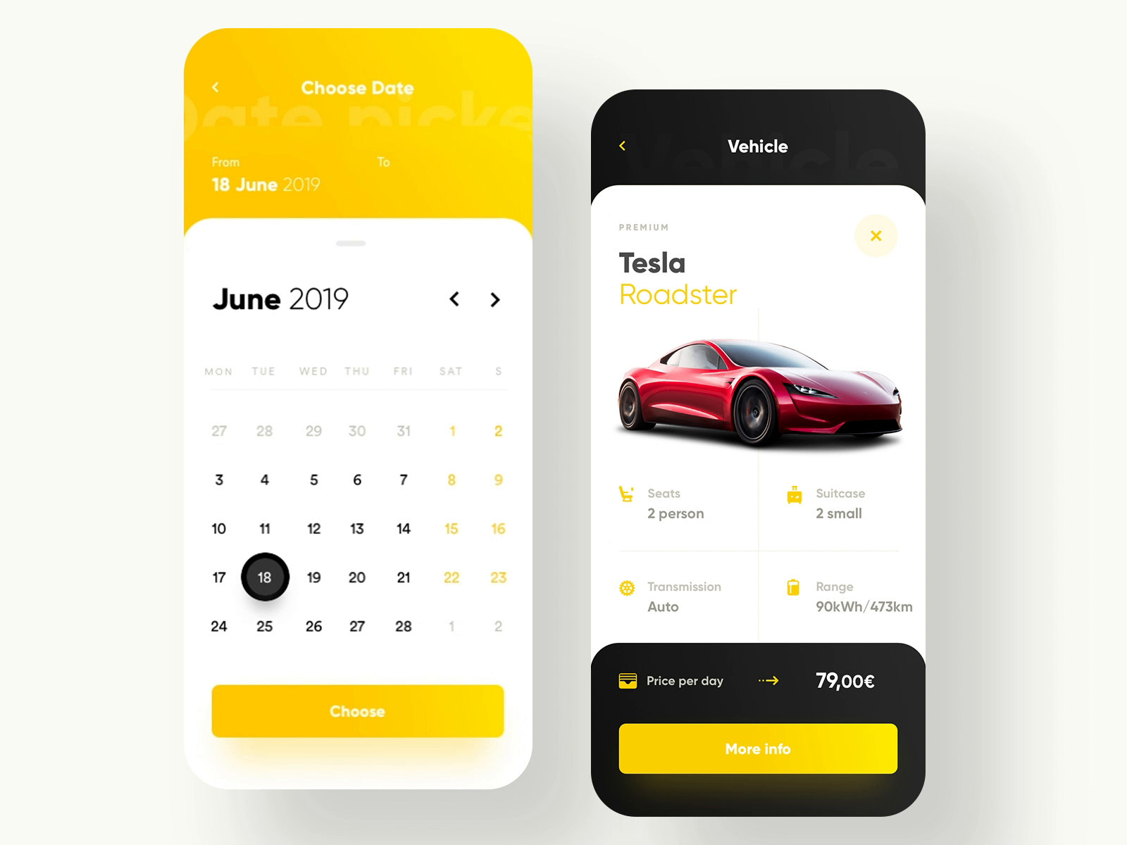 Hertz Car Rental App Redesign by Krystian Bieda 모바일 앱 디자인