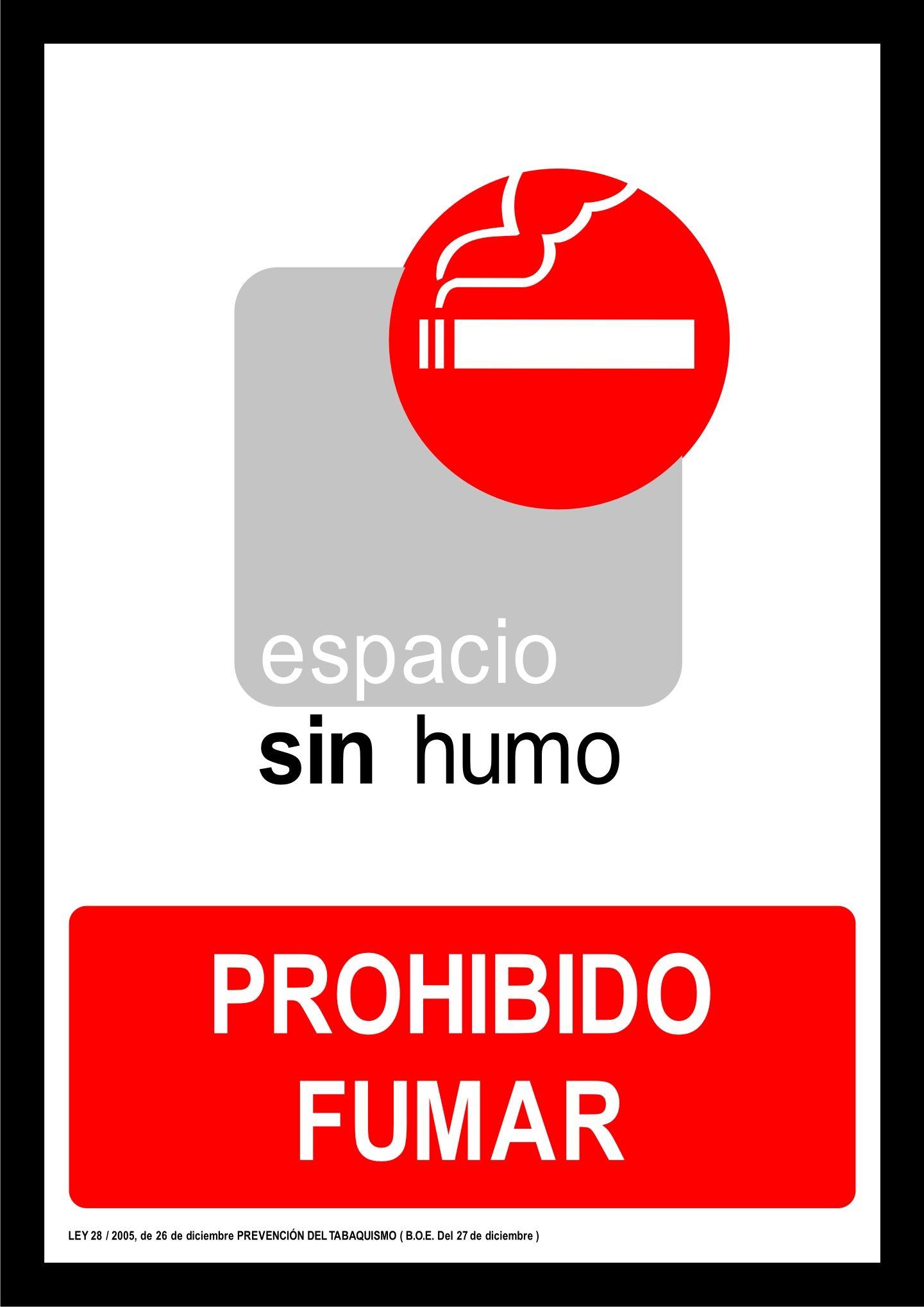 Señal espacio sin humo prohibido fumar | Icons | Pinterest | Icons